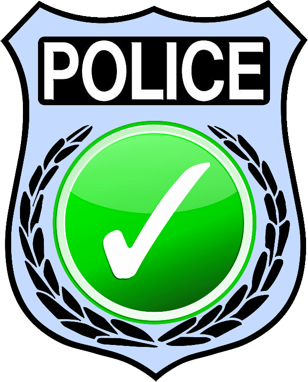 [POLICE BADGE]